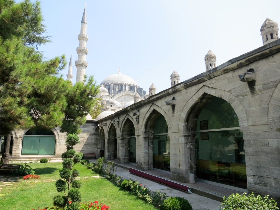 One of the main courtyards of Süleymaniye Library