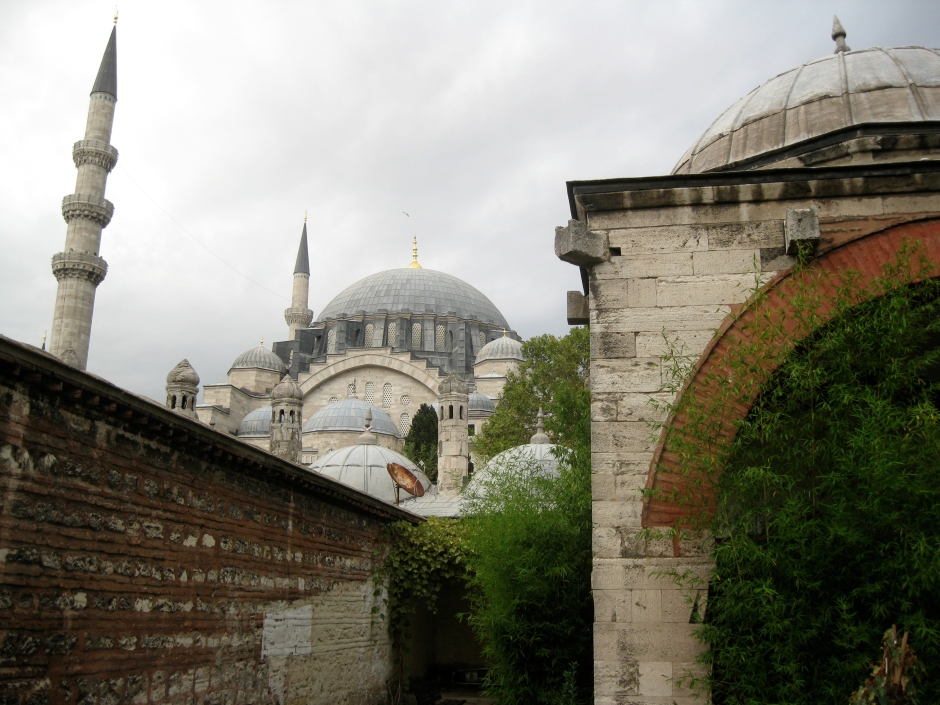A view of Süleymaniye Camii from the courtyard of the reading room.